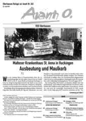 Oberhausener Beilage zur Avanti 245, Juni 2016