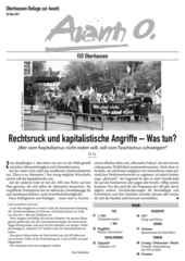 Oberhausener Beilage zur Avanti, Mai 2017.