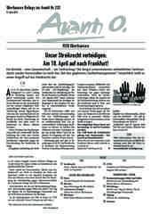 Oberhausener Beilage zur Avanti 232, April 2015