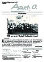 Oberhausener Beilage zur Avanti 237, Oktober 2015