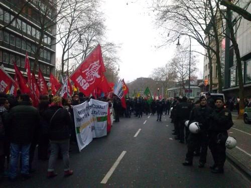 Demo gegen die Innenministerkonferenz in Köln am 6.12.2014, PKK-Verbot, Foto: Avanti O.Foto: Avanti O.