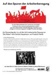 Veranstaltungsflyer 7.4.2016 - Auf den Spuren der ArbeiterInnenbewegung