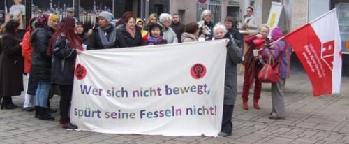 Demonstration zum Frauenkampftag 8.3.2016 in Oberhausen, Foto: Frauen-Plenum Oberhausen