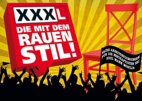 Solidaritätspostkarte von ver.di Rhein-Neckar. Ihr könnt sie hier herunterladen und Euren Protest an die Deutschland-Dependance von XXXLutz schicken. Handschriftliche Ergänzungen wie Solidarität zum Beispiel mit den KollegInnen von XXXL Rück sind möglich...: