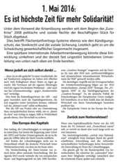 Flugblatt des RSB Oberhausen zum 1-Mai-2016