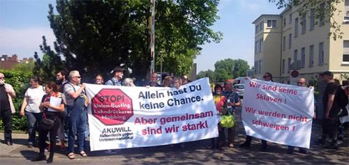 Aktion am 13.05.2016 bei der St. Anna Klinik in Duisburg-Huckingen, Foto: Peter Köster