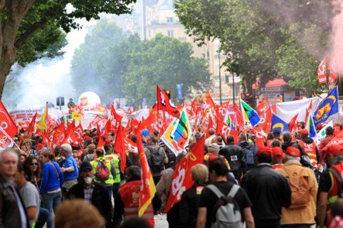 Demonstration gegen das Arbeitsrechtsgesetz am 14.6.2016 in Paris. Foto: Photothèque Rouge/JMB