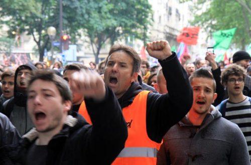 Demonstration gegen das Arbeitsrechtsgesetz am 2 Juni 2016 in Paris. Foto: Photothèque Rouge/JMB
