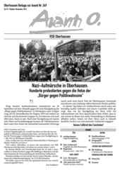 Oberhausener Beilage zur Avanti 248/249, Oktober/November 2016