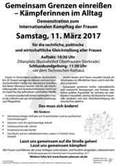 Aufruf zum Frauenkampftag 2017 in Oberhausen