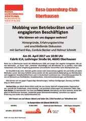 Veranstaltung BR-Mobbing Oberhausen 20.04.2017