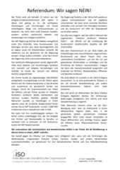 ISO Aufruf zum Nein beim Referendum in der Türkei
