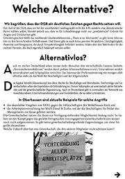 Flugblatt der ISO Oberhausen zum 1. Mai 2017