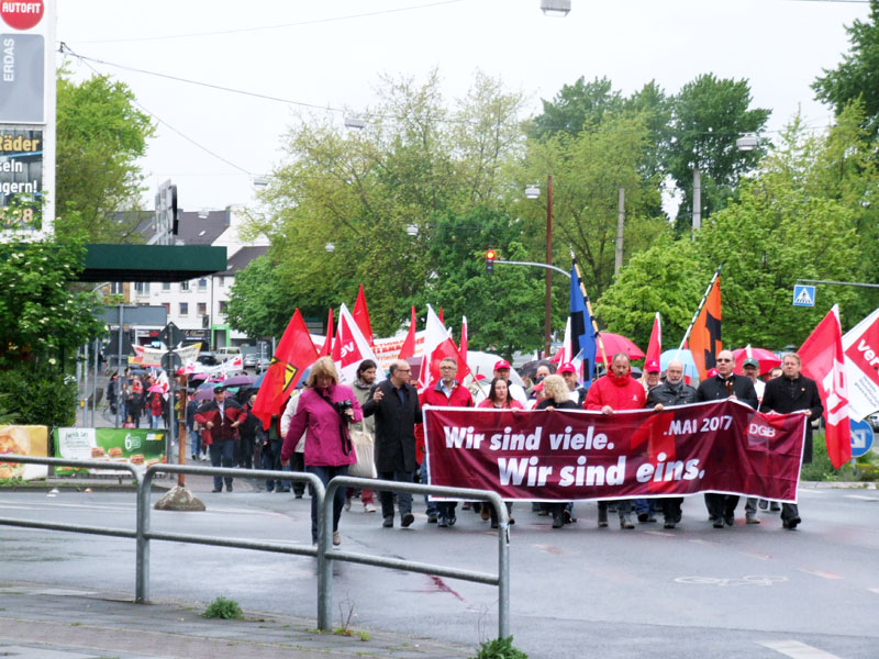 1. Mai-Demo 2017 in Oberhausen. Foto: Avanti O.