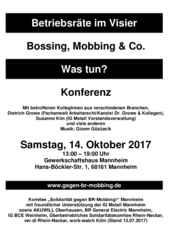 Konferenz Betriebsräte im Visier 2017 Faltblatt
