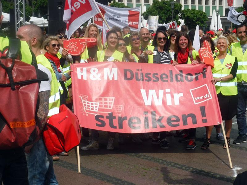NRW-Streikkundgebung Einzelhandel, Essen, 24.5.2017. Foto: AvantiO.