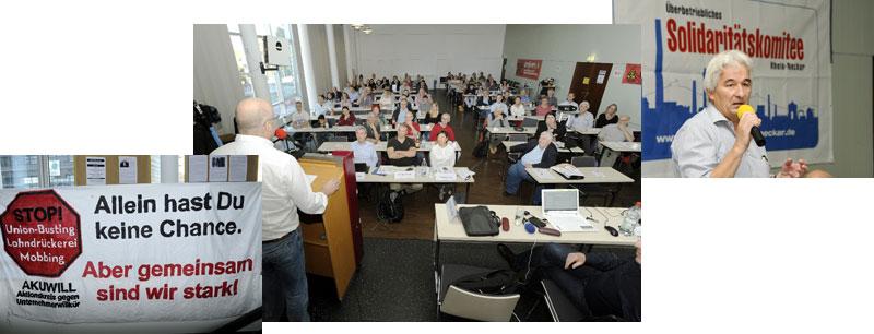 """Impressionen von der 4. Konferenz """"Betriebsräte im Visier"""". Fotos: helmut-roos@web.de"""