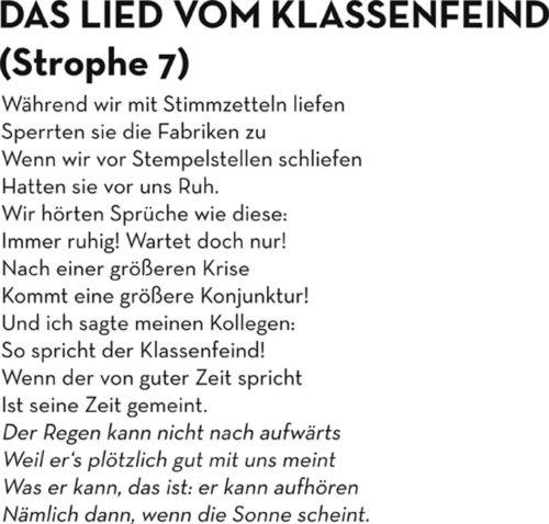 """Brecht- Veranstaltungsreihe """"Oktoberrevolution"""" Oberhausen - Das Lied vom Klassenfeind."""