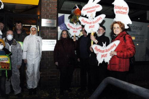 Protestaktion vor dem CDU-Büro, OB-Stadtmitte. Foto: ACW.