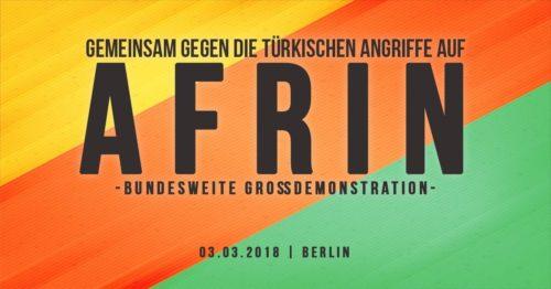 Bundesweite Großdemo am 3. März 2018 in Berlin, Alexanderplatz, 12:00 Uhr.