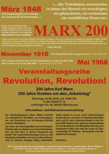 Veranstaltung 26.06.2018 - 200 Jahre Karl Marx - 200 Jahre Streiten um den Arbeitstag