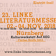 Linke Literaturmesse 2018 2.11 - 4.11.2018