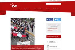 Webseite der ISO IV. Internationale Bundesweite Webseite