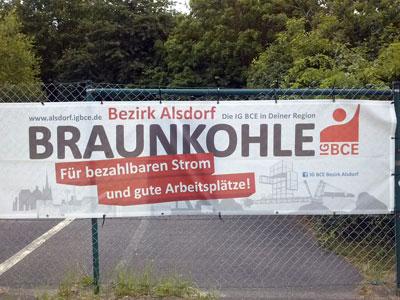 """Oder: """"Nach uns die Sintflut"""". Am Tagebau Garzweiler, Juni 2018. Foto: AvantiO."""