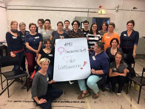 Gründung des Frauen*streikbündnisses in Oberhausen, 25. Juni 2018. Bild: PM.