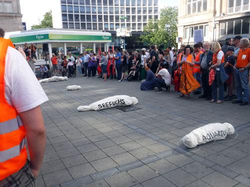 Stoppt das Ertrinken im Mittelmeer!, Demo in Essen, 13. Juli 2018. Foto: Avanti O.