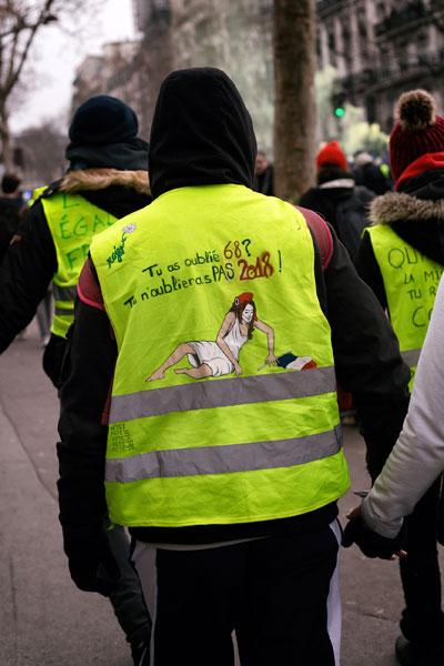 Hast Du 68 vergessen? 2018 wirst Du nicht vergessen! Paris -19. Januar 2019 (Foto:Photothéque Rouge, Martin Noda)