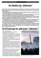 """Theoriebeilage zur Avanti O. März 2019 - """"Rebellion der Gelbwesten""""."""