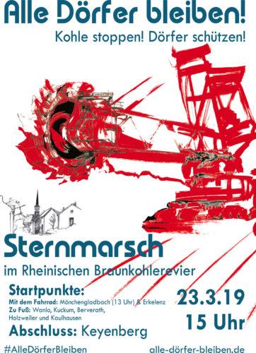 Alle Dörfer bleiben! Sternmarsch 23.3.1019.