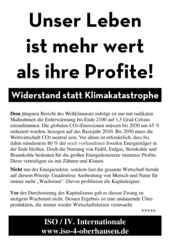 Flugblatt der ISO Oberhausen zur #Fridaysforfuture Demon am 24.5.2019