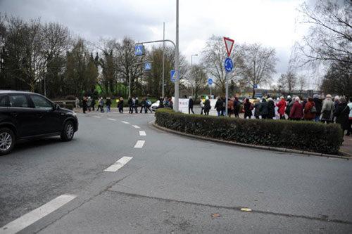 Der Flashmob am 8. März 2019 in Oberhausen. Foto: Andrea-Cora Walther.