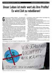 Theoriebeilage zur Avanti O. Oberhausen - Antikapitalismus: Zeit zu rebellieren?