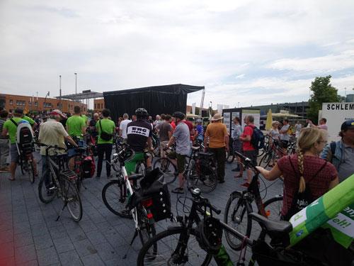 "Fahrraddemo ""Oberhausen sattelt um"", Oberhausen, 6. Juli 2019. Foto: Avanti O."