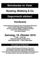 """Programm und Anmeldebogen zur 6. Konferenz """"Betriebsräte im Visier"""""""