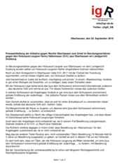 Pressemitteilung der Initiative gegen Rechts Oberhausen