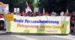 Protestaktion bei der Gesundheitsminister*innenkonferenz in Leipzig, 4. Juni 2019. Foto: R. Hoffmann.