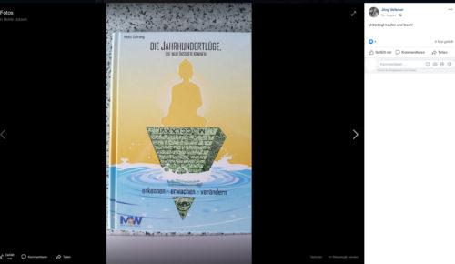 Beitrag von Jörg Volkmer, Beitrag zu dem Verschwörungstheoretischen und antisemitischen Hetzer Heiko Schrang. Screenshot Facebook Account Jörg Volkmer.