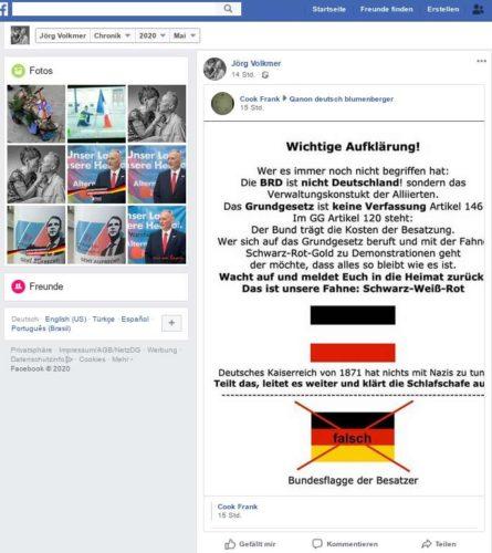 Der geteilte Inhalt spricht für sich. Screenshot Facebook Account Jörg Volkmer.