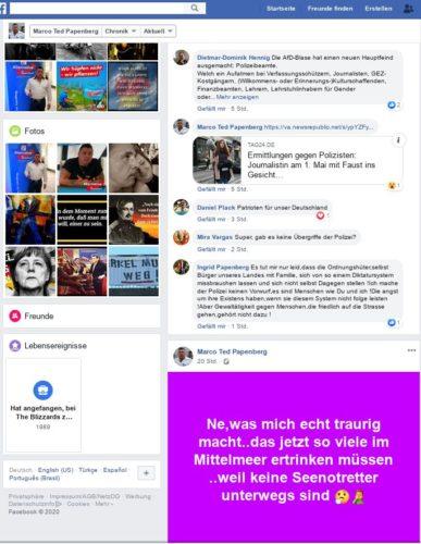 Ein Meme erstellt von Marko Papenberg das in seiner Eindeutigkeit für sich spricht. Screenshot Facebookaccount Marko Papenberg.