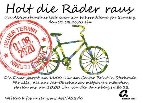 Fahrraddemo 1.8.20 Oberhausen