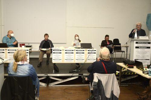"""Plenum der Konferenz """"Betriebsräte im Visier"""" am 17. Oktober 2020 in Mannheim. Foto: helmut-roos@web.de."""