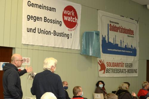 Plenumsdiskussion auf der Konferenz am 17. Oktober 2020 in Mannheim. Foto: helmut-roos@web.de.