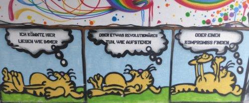 Wandmalerei in Chemnitz, 26. Februar 2017. Foto: Avanti².