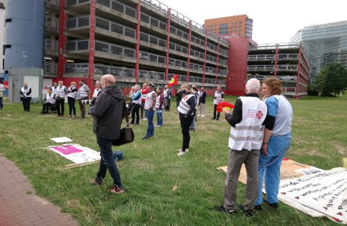 Auftaktveranstaltung der Volksinitiative am 26. August 2020 vor dem Landtag in Düsseldorf. Foto: Avanti O.